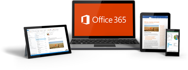 Office 365 works on all devics including mobile phones